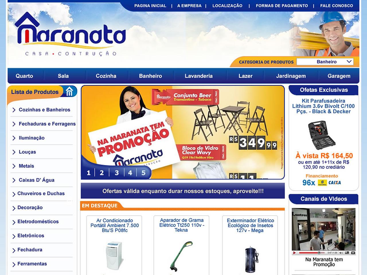 Loja especializada em venda de materiais de construção e para o lar