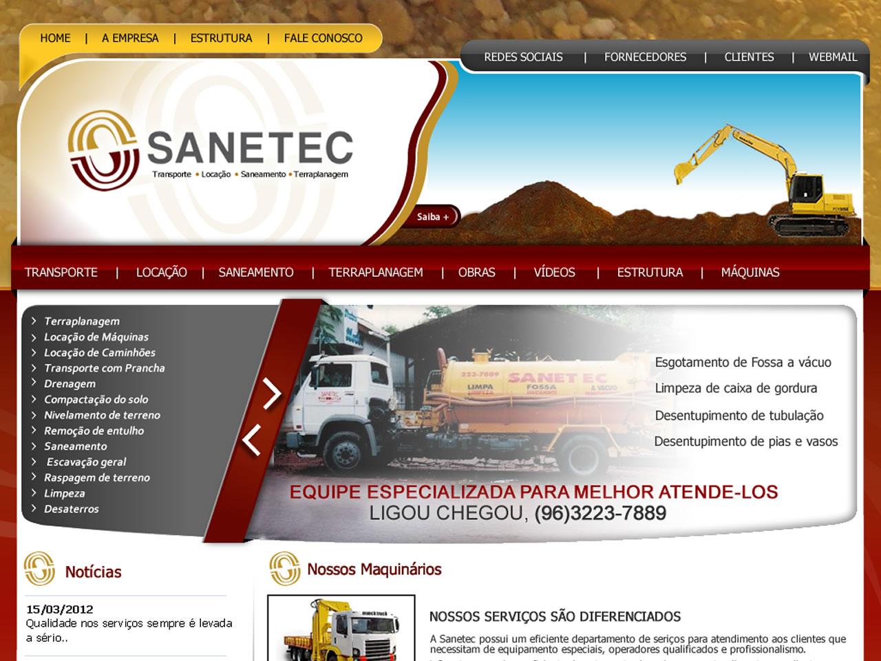 Empresa de transporte, saneamento, limpeza, drenagem e pavimentação