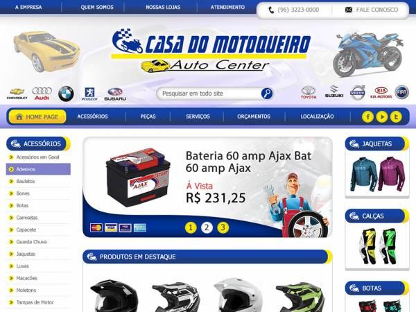 Loja especializada em vendas de produtos e acessórios para motos