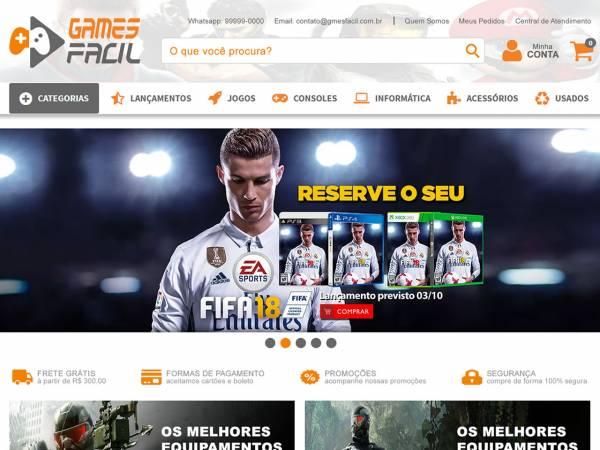 Loja E-commerce especializada em vendas de produtos de vídeo games